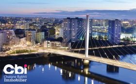 CBI promoteur immobilier à Nantes - Vue du pont Eric Tabarly à Nantes (44)