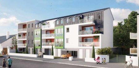 Appartement neuf à vendre à Nantes quartier Beauséjour - Sainte Thérèse / Façade de la résidence L'Oriel (CBI promoteur immobilier)