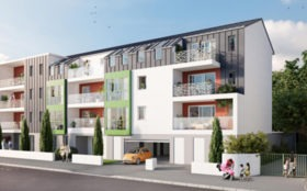 Résidence neuve L'Oriel à Nantes quartier Beauséjour Ste Thérèse - CBI