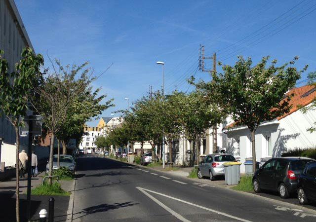 Appartement neuf à vendre à Nantes quartier Beauséjour - Sainte Thérèse / Rue Georges Lafont emplacement de la résidence L'Oriel (CBI promoteur immobilier)
