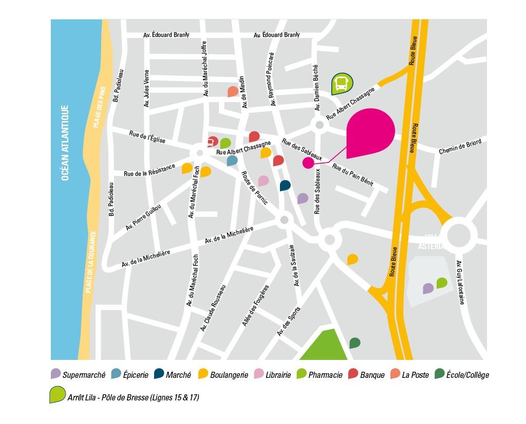 CBI - Villa Atérias - Plan et légendes de la résidence d'appartements neufs à Saint Brevin les Pins